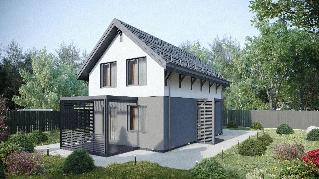 Двухэтажный дом 105 м