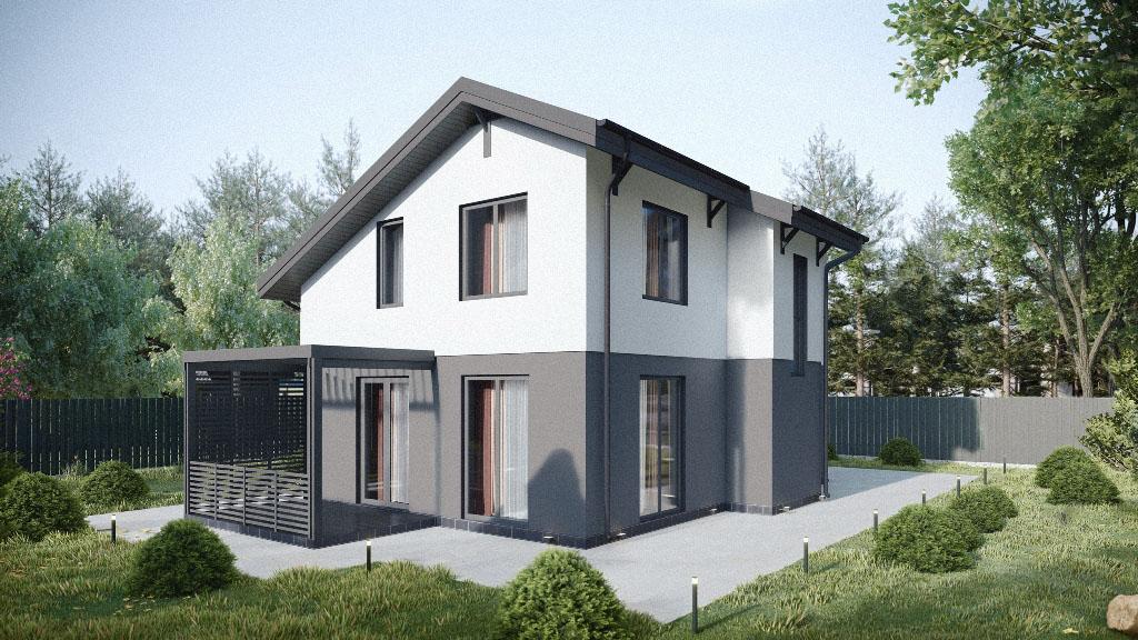 Двухэтажный дом 119 м
