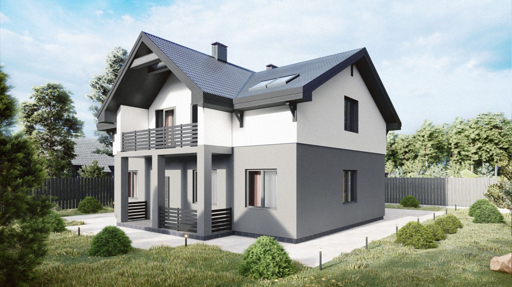 Двухэтажный дом 181 м
