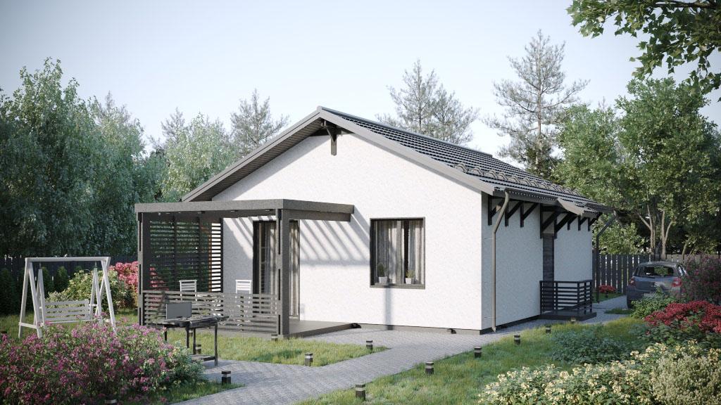 Одноэтажный дом 65 м