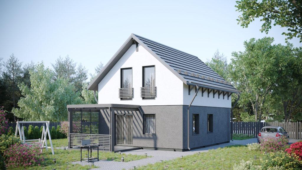 Двухэтажный дом 96 м
